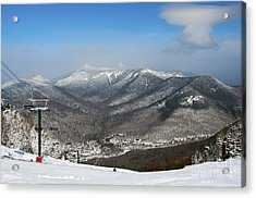 Loon Mountain Ski Resort White Mountains Lincoln Nh Acrylic Print by Glenn Gordon