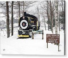 Loon Mountain Train Acrylic Print by Glenn Gordon
