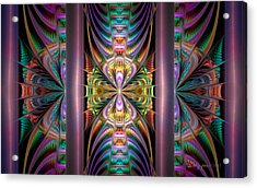 Loonie Behind Bars Acrylic Print by Peggi Wolfe