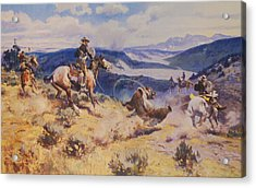 Loops And Swift Horses Are Surer Then Lead Acrylic Print by Charles Russell