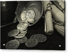 Loose Change Still Life Acrylic Print by Tom Mc Nemar