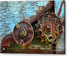 Loose Gears Acrylic Print by Newel Hunter