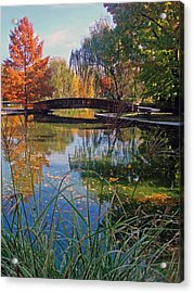 Loose Park In Autumn Acrylic Print by Ellen Tully
