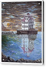 Lorain Lighthouse Acrylic Print by Frank Evans