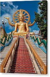 Lord Buddha Acrylic Print by Adrian Evans