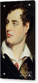 Lord Byron Acrylic Print by William Essex