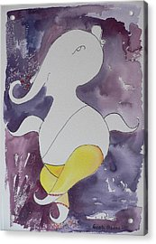Acrylic Print featuring the painting Lord Ganesha by Geeta Biswas