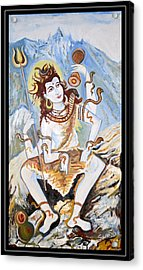Lord Siva-the Creator Acrylic Print by Anand Swaroop Manchiraju