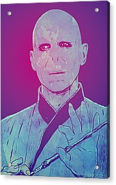 Lord Voldemort Acrylic Print by Giuseppe Cristiano