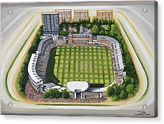 Lords Cricket Ground Acrylic Print by D J Rogers