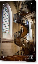 Loretto Chapel Staircase Acrylic Print by Jim McCain