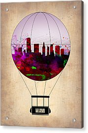 Miami Air Balloon 1 Acrylic Print