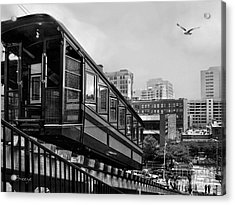 Los Angeles Angels Flight.bw Acrylic Print