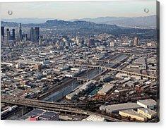 Los Angeles Bridges Aerial Acrylic Print by Kevin  Break
