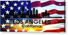 Los Angeles Ca Patriotic Large Cityscape Acrylic Print