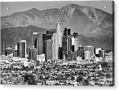 Los Angeles California Skyline - Black And White Acrylic Print