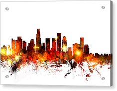 Los Angeles California Skyline Acrylic Print