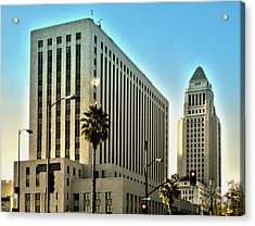 Los Angeles City Hall Acrylic Print by Gregory Dyer