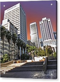 Los Angeles Historic Center Acrylic Print by Gregory Dyer