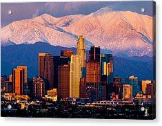 Los Angeles In Winter Acrylic Print