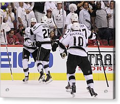 Los Angeles Kings V Phoenix Coyotes - Acrylic Print by Jeff Gross