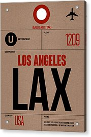 Los Angeles Luggage Poster 1 Acrylic Print