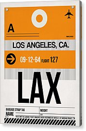 Los Angeles Luggage Poster 2 Acrylic Print by Naxart Studio