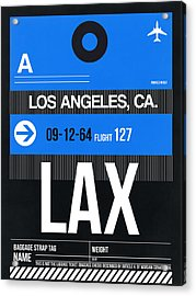Los Angeles Luggage Poster 3 Acrylic Print by Naxart Studio