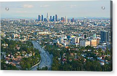 Los Angeles Skyline And Los Angeles Basin Panorama Acrylic Print by Ram Vasudev