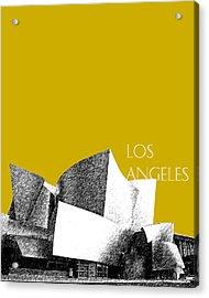 Los Angeles Skyline Disney Theater - Gold Acrylic Print by DB Artist