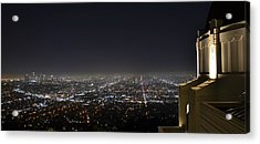 Los Angeles Skyline Panorama From The Griffith Observatory Acrylic Print by David Lobos