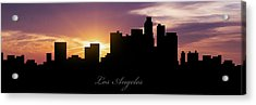 Los Angeles Sunset Acrylic Print by Aged Pixel