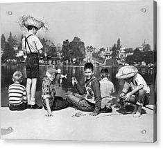 Los Angeles Tom Sawyer Contest Acrylic Print by Underwood Archives