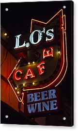 L.o's Cafe Acrylic Print