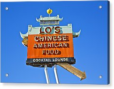 Acrylic Print featuring the photograph Lo's Chinese American Food by Gigi Ebert
