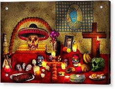 Los Dios Muertos - Rembering Loved Ones Acrylic Print by Mike Savad