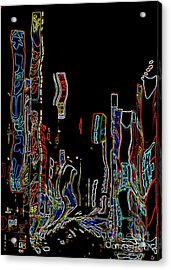 Losing Equilibrium - Abstract Art Acrylic Print by Carol Groenen