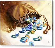 Losing My Marbles Acrylic Print