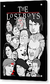 Lost Boys Collage Acrylic Print by Gary Niles