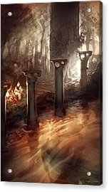 Lost By The River Fence Acrylic Print