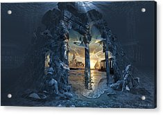 Lost City Of Atlantis Acrylic Print by George Grie