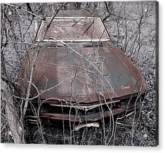 Acrylic Print featuring the photograph Lost Corvair Adjustment  by Christopher McKenzie