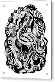 Lost Flamingo Acrylic Print by Kenal Louis