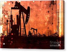 Lost Hills Oil Acrylic Print by Matt  Trimble