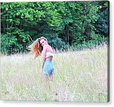 Lost In A Feild Acrylic Print by Amanda Just