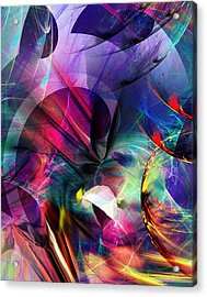 Acrylic Print featuring the digital art Lost In Hyperspace by David Lane