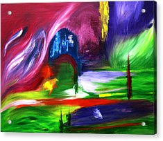 Lost In Northern Lights Acrylic Print by ColorAndCommotion By Kritka