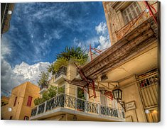 Acrylic Print featuring the photograph Lost In Plaka by Micah Goff