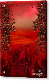 Lost In Red - Surreal Art By Giada Rossi Acrylic Print