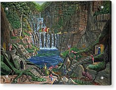 Lost In The Magic Forest Acrylic Print by Anthony Lyon